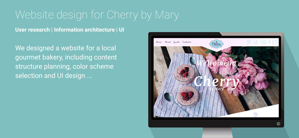 Cherry by Mary UI Information architecture User research Bozhana Ivanova